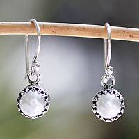 Cultured pearl dangle earrings, 'Taxco Royalty' - Cultured pearl dangle earrings
