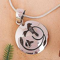 Featured review for Sterling silver pendant necklace, Hopeful Nightingale