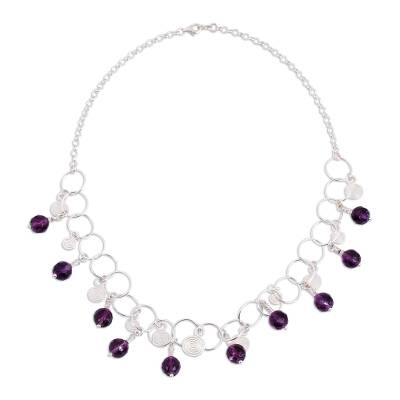 Amethyst waterfall necklace