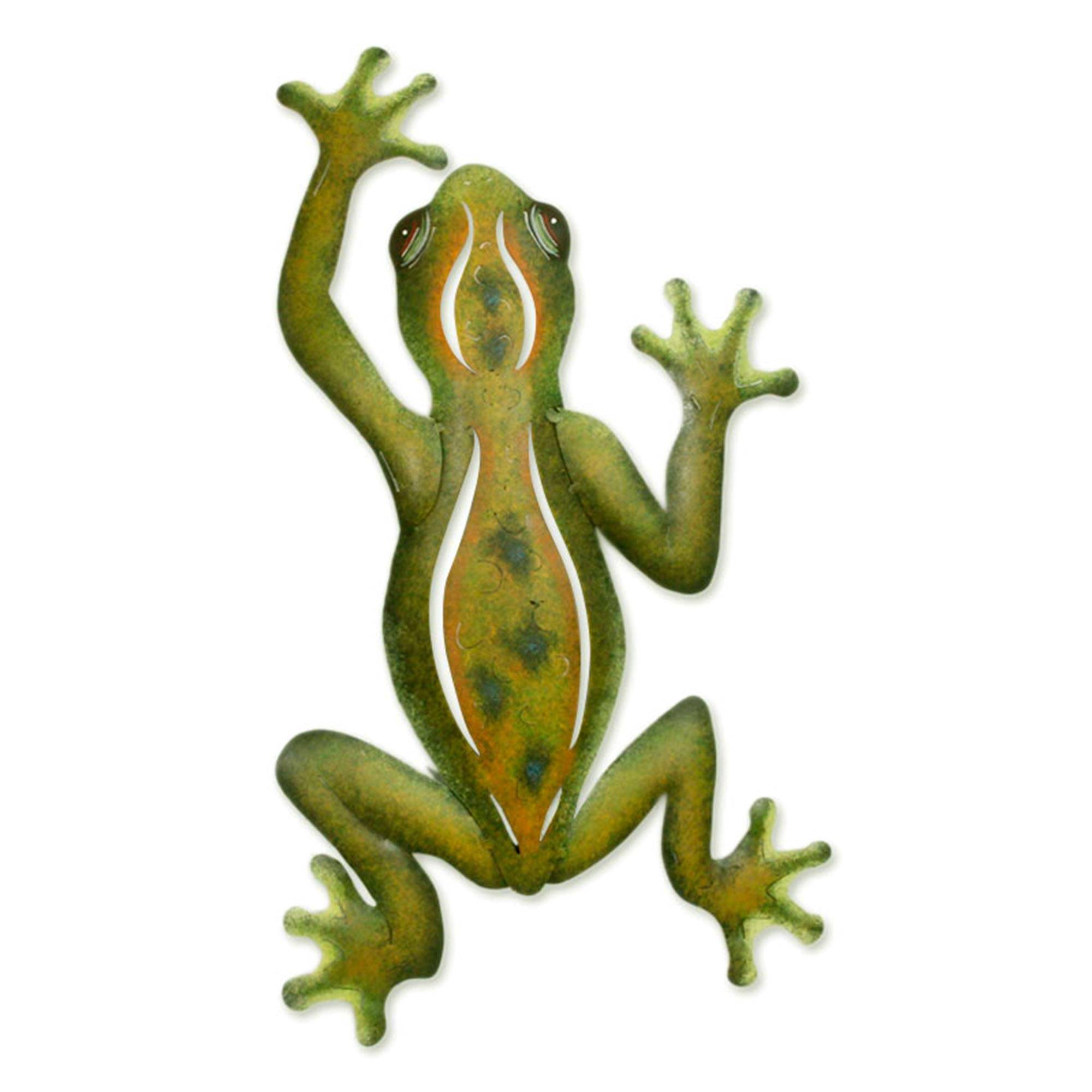 unique hand crafted steel wall art sculpture mexican tree frog