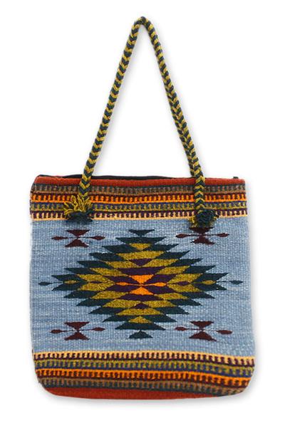 Novica Cotton shoulder bag, Sunny Fantasy
