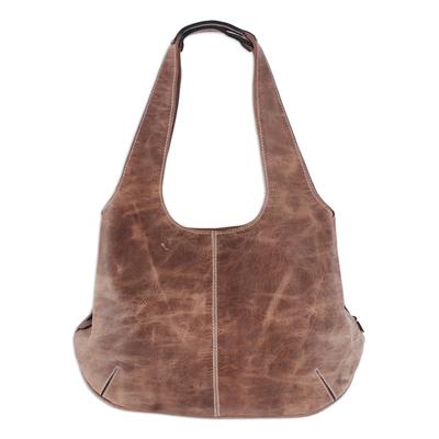 Novica Suede shoulder bag, Urban Traveler in Beige
