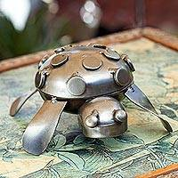 Iron decorative box, 'Rustic Turtle'