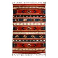 Zapotec wool rug, 'Zapotec Magnificence' (6.5x9.5) - Zapotec wool rug (6.5x9.5)