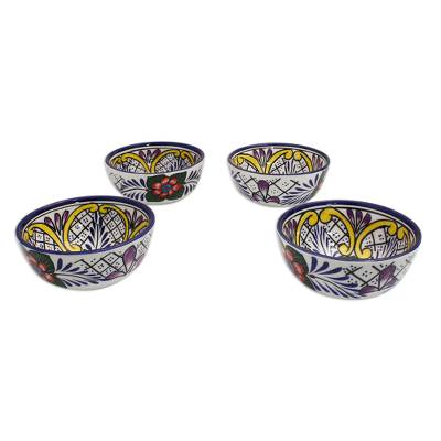 UNICEF Market | Fair Trade Set of 4 Ceramic Bowls Dinnerware - Flowers of Guanajuato  sc 1 st  UNICEF Market - UNICEF USA : fair trade dinnerware - pezcame.com