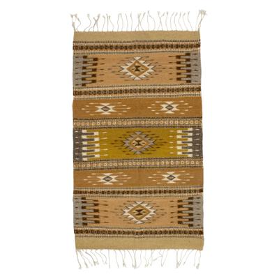 Zapotec wool rug, 'Light of the Horizon' (2x3.5) - Zapotec wool rug (2x3.5)