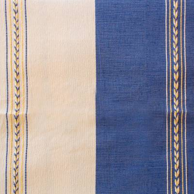 Zapotec cotton bedspread, 'Joy of Oaxaca' (twin) - Handmade Zapotec Cotton Bedspread (Twin)