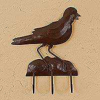 Iron key holder, 'Little Goldfinch' - Iron key holder