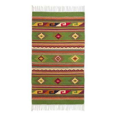 Zapotec wool rug, 'Oaxaca Forest' (2.5x5.5) - Handwoven Zapotec Artisan Rug (2.5x5.5)