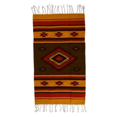 Zapotec wool rug, 'Oaxaca Vision' (2x3) - Zapotec wool rug (2x3)