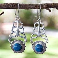 Sodalite dangle earrings, 'Blue Blossom' - Sodalite dangle earrings