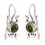 Peridot drop earrings, 'Lucky Green Frog' - Sterling Silver and Peridot Good Luck Earrings (image 2a) thumbail