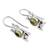 Peridot drop earrings, 'Lucky Green Frog' - Sterling Silver and Peridot Good Luck Earrings (image 2b) thumbail
