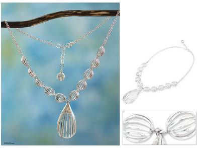 Sterling Silver Y Necklace Taxco Trends