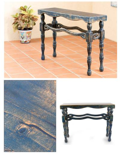 Awesome Unique Rustic Wood Console Table Furniture Hidalgo Royal Blue Caraccident5 Cool Chair Designs And Ideas Caraccident5Info