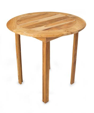 Teakwood round accent table