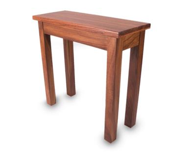 Parota wood console table