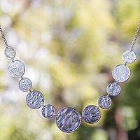 Sterling silver link necklace, 'Taxco Melody' - Sterling silver link necklace