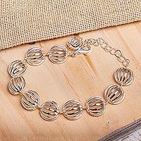 Sterling silver link bracelet, 'Taxco Trends' - Sterling silver link bracelet