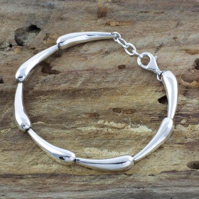 Sterling silver link bracelet, 'Forever Taxco' - Sterling silver link bracelet