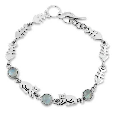 Unique Sterling Silver Moonstone Bracelet