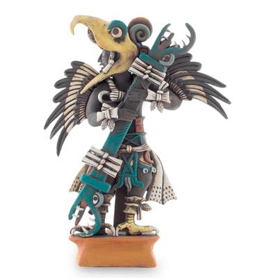 Ceramic sculpture, 'Eagle Warrior' (large) - Ceramic sculpture (Large)