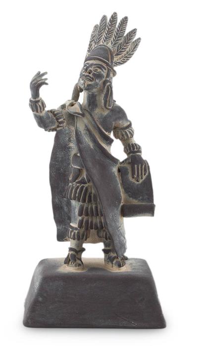 Ceramic sculpture, 'Nezahualcoyotl' - Ceramic sculpture