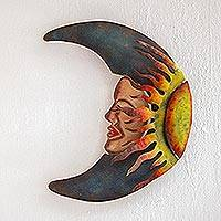 Iron wall sculpture, 'Sensorial Eclipse'