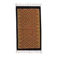 Zapotec wool rug, 'Path to the Sun' (2.5x5) - Zapotec wool rug (2.5x5)