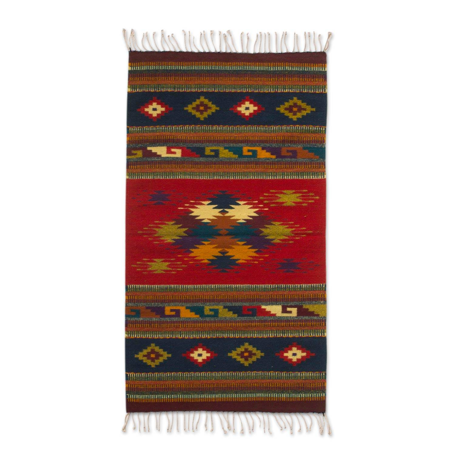 Unicef Uk Market Handmade Wool Rug Zapotec 2 5 X 5 Ft