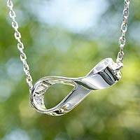 Sterling silver pendant necklace, 'Infinite Maya' - Hand Crafted Taxco Silver Pendant Necklace