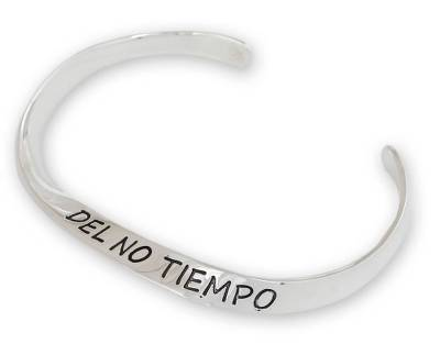 Inspirational Sterling Silver Cuff Bracelet