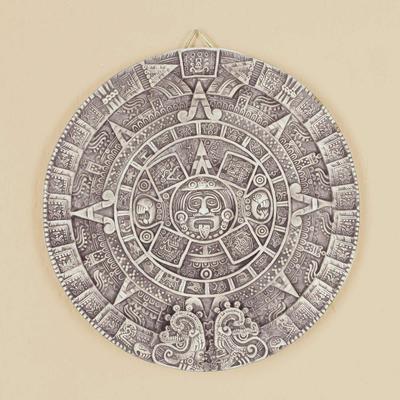 309228a25 Ceramic Wall Plaque Museum Replica Handmade Mexico - Aztec Calendar in  Beige   NOVICA