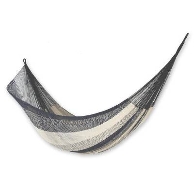 cotton hammock  u0027midnight riviera u0027  double    collectible cotton mayan hammock   collectible cotton mayan hammock  double    midnight riviera   novica  rh   novica