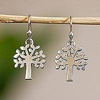 Sterling silver dangle earrings, 'Ceiba Tree' - Women's Taxco Silver Sterling Silver Dangle Earrings