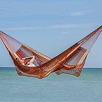 Hammock, 'Maya Sanctuary' (double) - Patterned Mayan Hammock (Double)