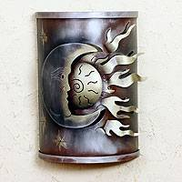 Iron wall lamp, 'Eclipse of the Sun'