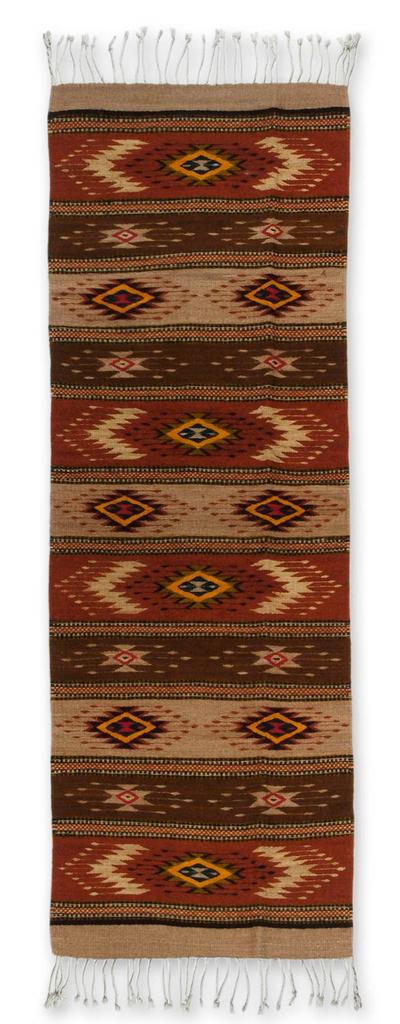 Unicef Market Zapotec Wool Runner Rug 2x6 Zapotec Stars