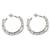 Cultured pearl half hoop earrings, 'Mystical Moonbeams' - Cultured pearl half hoop earrings (image 2a) thumbail