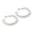 Cultured pearl half hoop earrings, 'Mystical Moonbeams' - Cultured pearl half hoop earrings (image 2b) thumbail