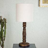 Mahogany table lamp, 'Natural Elegance' - Mahogany table lamp