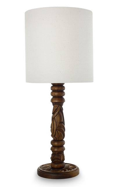 Mahogany table lamp