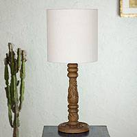 Mahogany table lamp, 'Mexican Ivy' - Mahogany table lamp