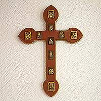 Pinewood cross, 'Testimony of Faith' - Pinewood cross