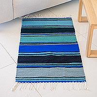 Zapotec wool rug, 'Zapotec Sky' (2x3)