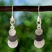 Silver dangle earrings, 'Waterfall' - Silver dangle earrings