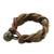 Braided leather bracelet, 'Crazy About You' - Brown Braided Leather Wristband Bracelet (image 2a) thumbail
