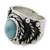 Men's turquoise ring, 'Protect' - Men's turquoise ring (image 2a) thumbail