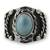 Men's turquoise ring, 'Protect' - Men's turquoise ring (image 2b) thumbail