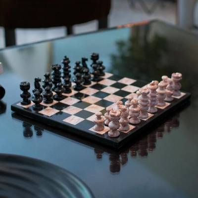 Handcrafted Mexican Marble Chess Set Medium Glorious